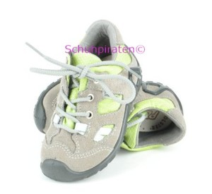 Ricosta trendiger Sneaker / Halbschuhe PEJO in taupe/grün zum Schnüren mit Texmembrane, Gr. 20 (PEJO: Gr. 20)