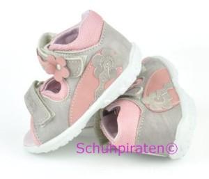 Ricosta Lauflernschuhe / Sandale NADDI in grau/rosa, Gr.  24 (NADDI: Gr. 24)