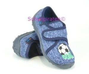 Rohde Jungen Hausschuhe Fussball blau, Gr. 23-27 (Fussball 2158/55: Gr. 26)