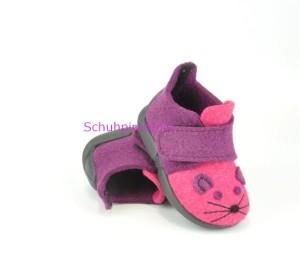 Rohde warme Hausschuhe pink/lila Maus, Gr. 19+20+21+25+26 (Hausschuhe 2074/46: Gr. 21)