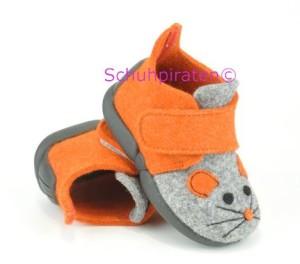 Rohde warme Hausschuhe orange/grau Maus, Gr. 20 (Hausschuhe 2074/80: Gr. 20)