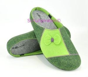 Rohde warme Hausschuhe Pantoffeln grün, Gr. 36-37 + 39 + 41 (Pantoffel 6111/60: Gr. 39)