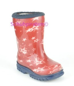 Romika warmer Gummistiefel rot, Gr. 20-21 + 25-26 + 33-35 (Little Star 05007-400: 25)