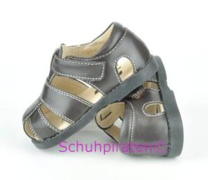 See Kai Run trendiger Lauflernschuhe / geschlossene Sandale Modell Jude in dunkelbraun mit Klettverschluß, Gr. 20 + 22 (Jude braun: Gr. 22)