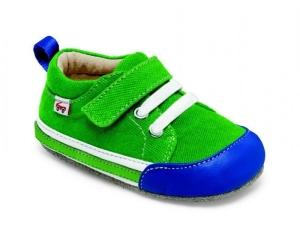 See Kai Run smaller Kinder Hausschuhe / Krabbelschuhe Modell CODY  in grün, Gr. 22 (CODY: Gr. 18-24 mo = 22)