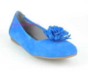 Superfit Ballerina bluet (blau) - Velourleder, Gr. 38 (Ballerina 0-195-84: Gr. 38)