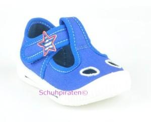 Superfit Hausschuhe - sportlich blau (water), Gr. 18+20 (Haussschuhe 0-264-88: Gr. 18)