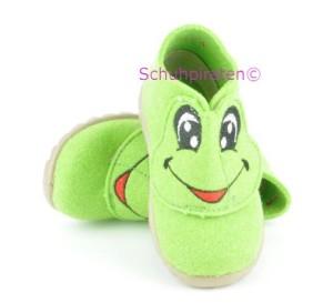 Superfit warme Hausschuhe grün mit Frosch, Gr. 19 + 21 + 22 (Frosch 1-295-29: Gr. 22)