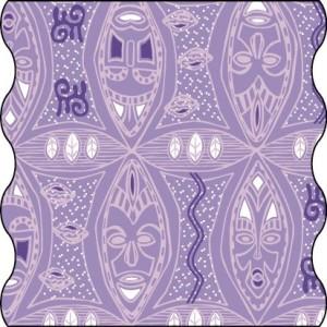 Lässig - Twister Multifunktionstuch in lila Ethnic-Motiv - Adult