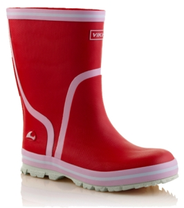 Viking Gummistiefel in rot, Gr. 27-28 + 31-33 (New Splash rot: Gr. 33)