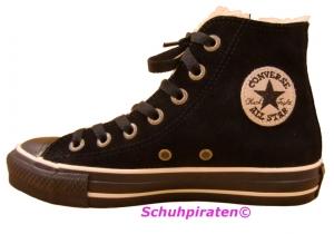 Converse Chuck Velour-Leder in schwarz m.Teddyfutter, Gr. 35 (warmer Velour schwarz: Gr. 35)
