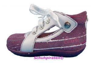 Däumling Lauflernschuhe z. Schnüren violett Gr.22 + 24-25 (M0585/119: Gr. 25 Weite M)