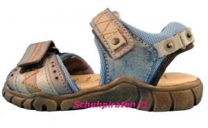Däumling schicke Kinder Sandale mit 2-fach Klettverschluß in taubenblau, Gr. 34 (M1386/127: Gr. 34)