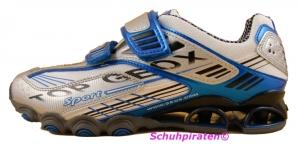 Geox Sport Halbschuh in weiß/blau/silber Gr. 39 (Tornado: Gr. 39)
