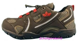 Lico Halbschuhe Sprint braun/rot, Gr.  30 + 34 + 38 (Sprint: Gr. 34)