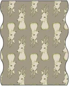 TWISTER Multifunktionstuch in oliv/beige Rehbock (Adult)