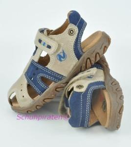 Naturino Zehenschutz-Sandale sand/blau, Gr. 26+28 + 32 (Gimbo sabbia-china: Gr. 26)