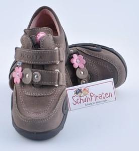 Ricosta Kinder Halbschuh MAITE für Mädchen aus Leder in graurosa mit Texmembrane Gr. 32 (MAITE: Gr. 32)
