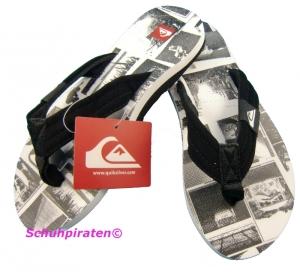 Quiksilver Flip Flop Badeschuhe schwarz/weiß, Gr. 31+40 (schwarz/weiß: Gr. 31)