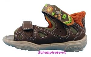 Ricosta Lauflerner Sandale COMPI braun/orange Gr. 19 (COMPI: Gr. 19)