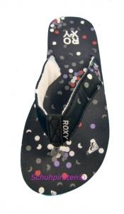 Roxy Flip Flop schwarz mit Konfetti, Gr. 32 + 34 (schwarz: Gr. 34)
