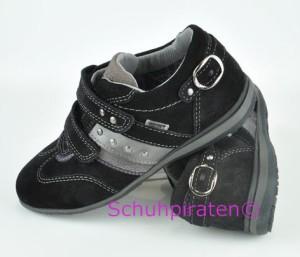 Superfit Sneaker mit 2-fach Klettverschluß in schwarz Velourleder/Effektleder/Textil mit Goretex, Gr. 31-32 + 36-40 (Sneaker 7-411-00: Gr. 32)