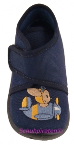 Superfit Hausschuh dunkelblau Maus im Flieger, Gr. 18 (Maus im Flieger 6-253-80: Gr. 18)