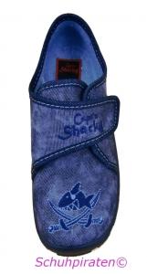 Hausschuhe jeansblau, Gr. 25 + 26 (Sharky Hannes: Gr. 25)