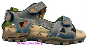 Capt´n Sharky Sandale in jeansblauen Leder, Gr.  31 (Sharky Filippo: Gr. 31)