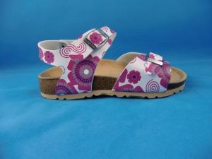 Sandale (Hausschuh) in weiß/pink, Gr.  35 + 37 (Sandale 4-115-51: Gr. 35)