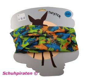 TWISTER Multifunktionstuch in bunt mit Haien für Kinder