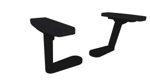 2D Soft-Armlehnen-Nachrüstpaket für Bürostuhl Sedus early bird (Armlehnenbügel: poliert)