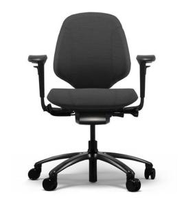 Bürostuhl RH Mereo 200 Schwarz mit mittlerer Rückenlehne