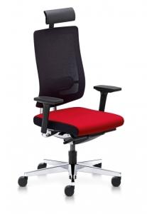Bürostuhl Sedus black dot net mit Netzrücken bd-122 und höhenverstellbarer Nackenstütze 7007