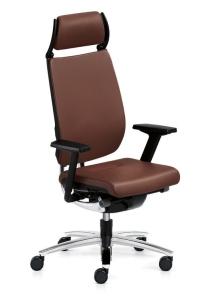 Bürostuhl Sedus swing up mit Nackenstütze - Rückenlehne mit Vollpolsterung