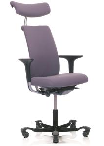 Bürostuhl HAG H05 5500 mit Kopfstütze, nur vorderseitig gepolstert