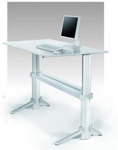 Sitz-Steh Schreibtisch Leuwico GO2move höhenverstellbar