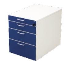 Rollcontainer für Leuwico Kindertische iMOVE C teens und Zippo (Farbe Frontblenden: königsblau 605)