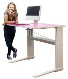 Schreibtisch für Jugendliche Leuwico iMOVE C teens höhenverstellbar (Tischplattenoberfläche: kristallweiß 049)