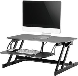 NEWSTAR Sitz-Steh-Workstation  mit Tastaturablage