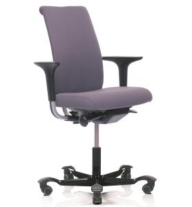 Bürostuhl HAG H05 5500 ohne Kopfstütze, vorderseitig gepolstert