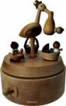 Hochwertige Holz Spieluhr Storch
