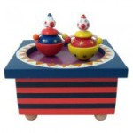Musikdose Holz Zirkus mit tanzendem Clown, Trousselier