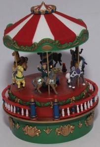 Weihnachten, Mini-Karussell, Pferde