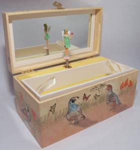 Kinder-Spieluhren, Wachtelpfad, drehende Elfe