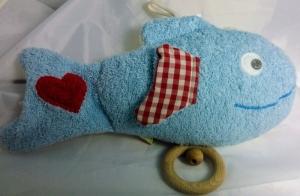 Baby Spieluhr Fisch, Efie naturline 100% made in germany (Melodienauswahl: Sandmann, lieber Sandmann)