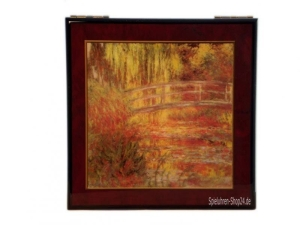 Holz Spieluhr, Schatulle Bild Monets Garten von Böhme Music