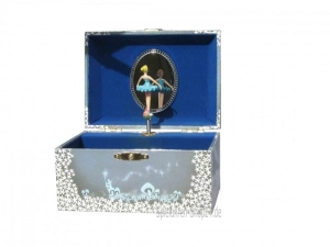 Blaue Spieluhr,  Ballerina im Mondschein, Schwanensee