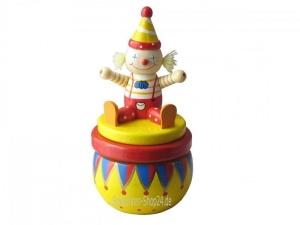 Spieluhr aus Holz Clown in der Manege (Melodienauswahl: Oh du lieber Augustin)
