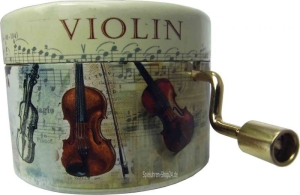 Handkurbel Drehleier Böhme Instrumente (Melodienauswahl: Menuett No 3 / Bach)